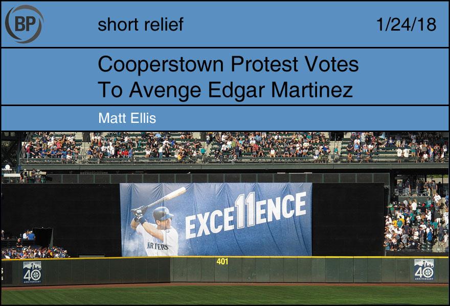 Cooperstown Protest Votes to Avenge Edgar Martinez by Matt Ellis