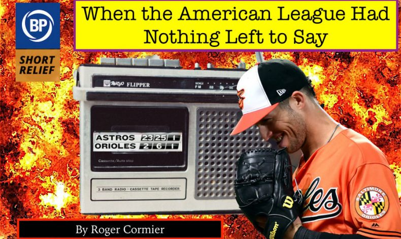 Long Relief: When the American League Had Nothing Left to Say